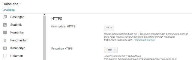 Blogspot Mendukung HTTPS atau SSL Untuk Custom Domain