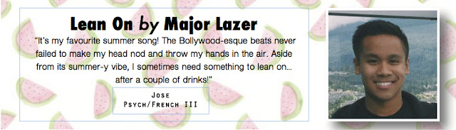 Lean On by Major Lazer - Summer Song Pick