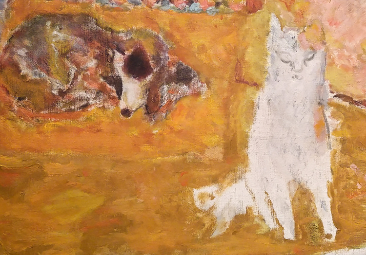 dog and cat by pierre bonnard