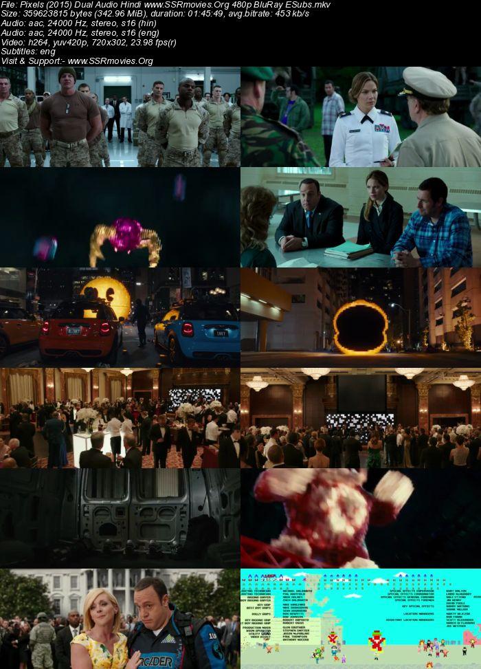 Pixels (2015) Dual Audio Hindi 480p BluRay 300MB