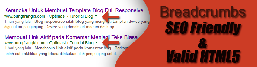Membuat Breadcrumbs SEO Friendly dan Valid HTML5