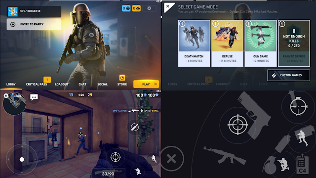 Total Size atau Data Game Critical Ops Genre FPS Android