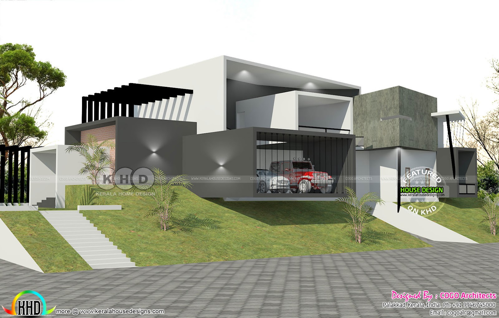 Luxury ultra modern 7000 sq-ft house - Kerala home design ...