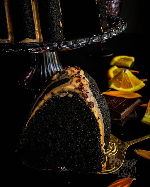 bundt de chocolate y calabaza con naranja