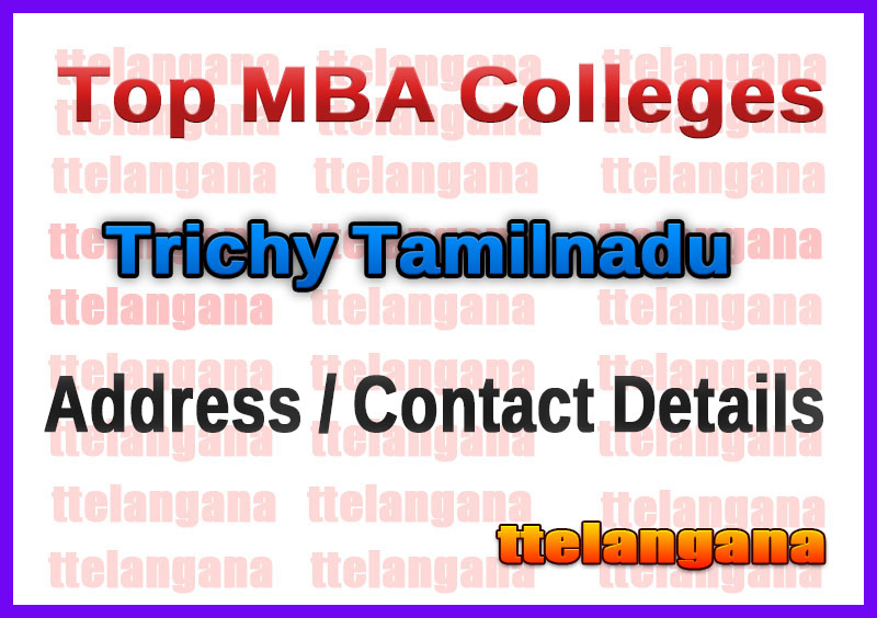 Top MBA Colleges in Trichy Tamilnadu