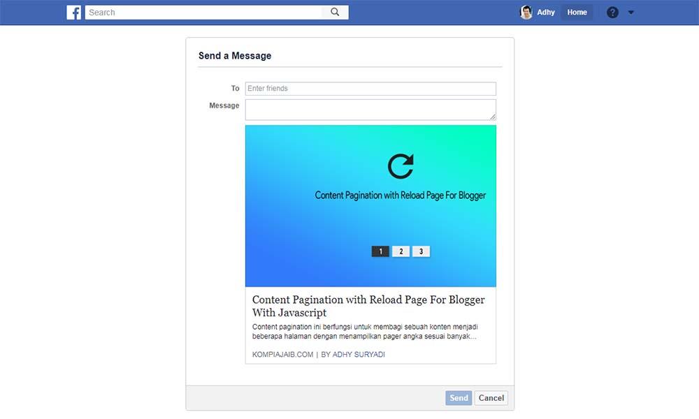Membuat Tombol Share To Messenger Untuk Blogger