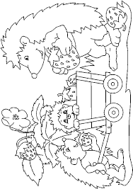Hedgehog Familly Coloring Pages Online