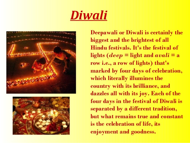 Essay in english for diwali