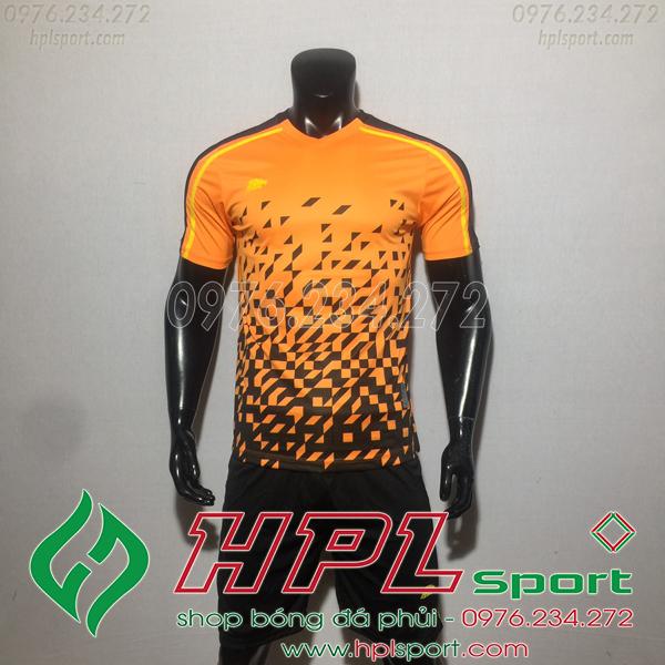 Áo bóng đá ko logo Eureka HAT CĐX  Màu Cam
