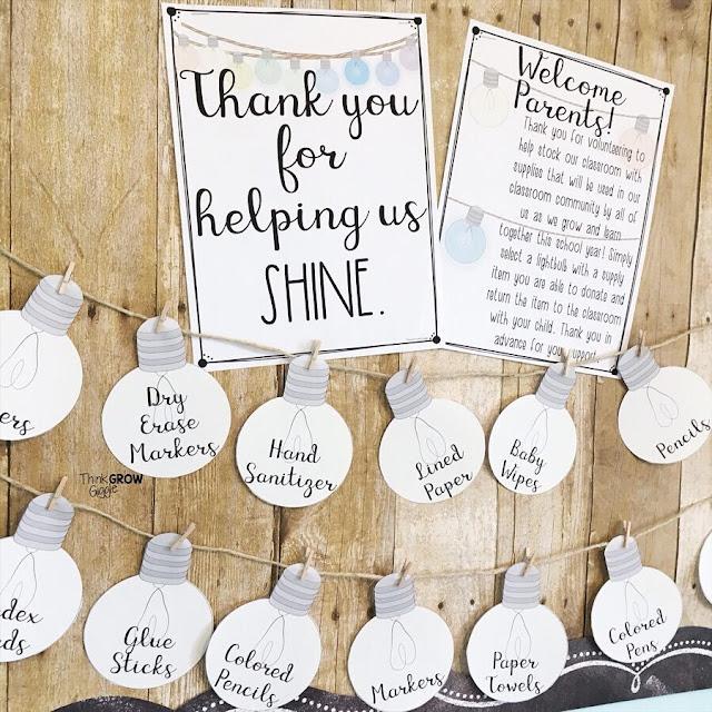 classroom wish list display bulletin board idea