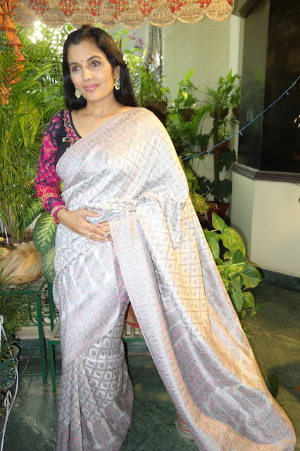 Silver Kani saree