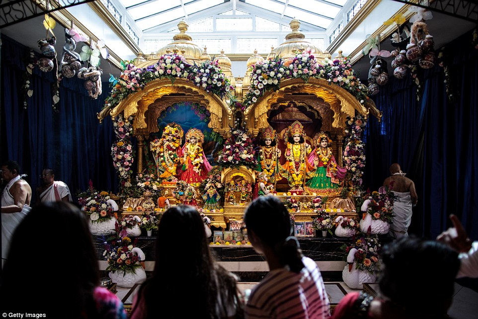 Around 70,000 people were expected to attend the Krishna Janmashtami Festival celebrations over two days at Bhaktivedanta Manor