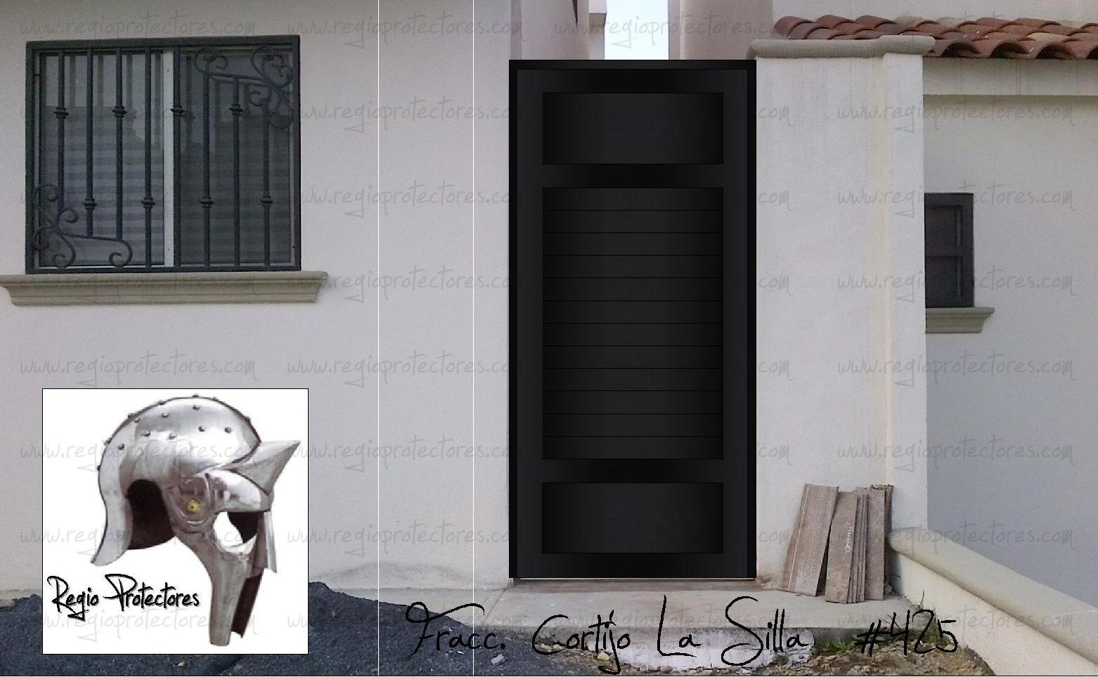 Regio Protectores Puerta para pasillo estilo Louver Fracc Cortijo La Silla Montaje y plano 425