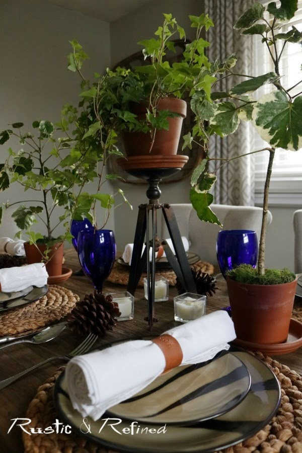 Animal print tablescape for tons of gorgeous texture and color in your dining room
