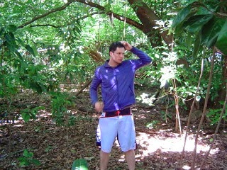A young man who is lost in the middle of a forest.
