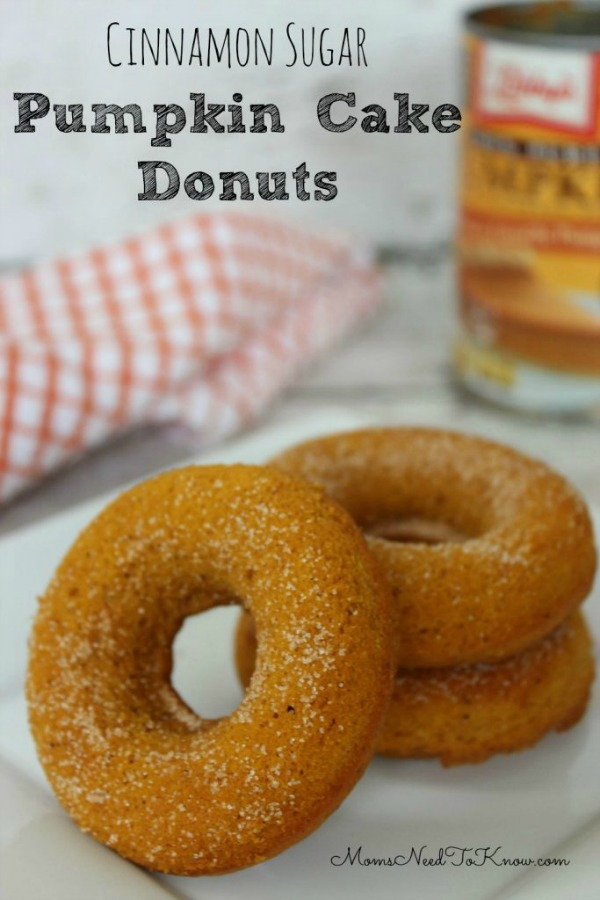 Cinnamon Sugar Cake Donuts from Moms Need to Know