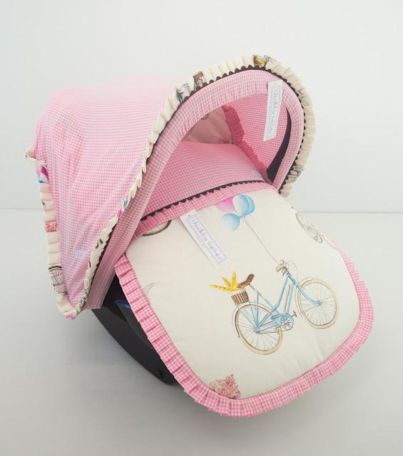 colchoneta grupo 0 bicicletas rosa chocolate
