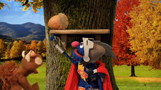 Super Grover 2.0 The Acorn squirrel, Sesame Street Episode 4308 Don't Wake the Baby