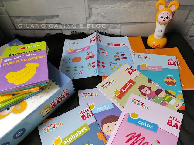 6 poster di hello bana set human pencil korea yang asik untuk belajar 3 bahasa