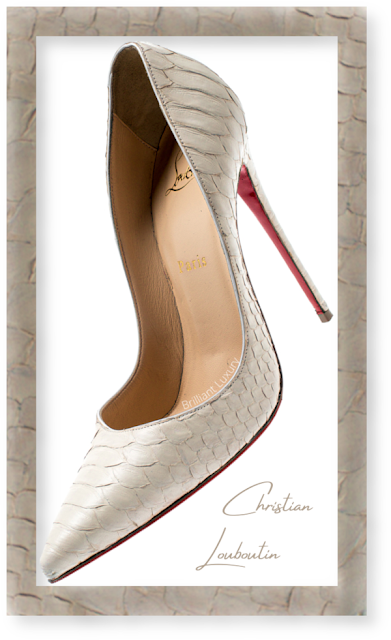Christian Louboutin So Kate light brown python snakeskin pumps #brilliantluxury