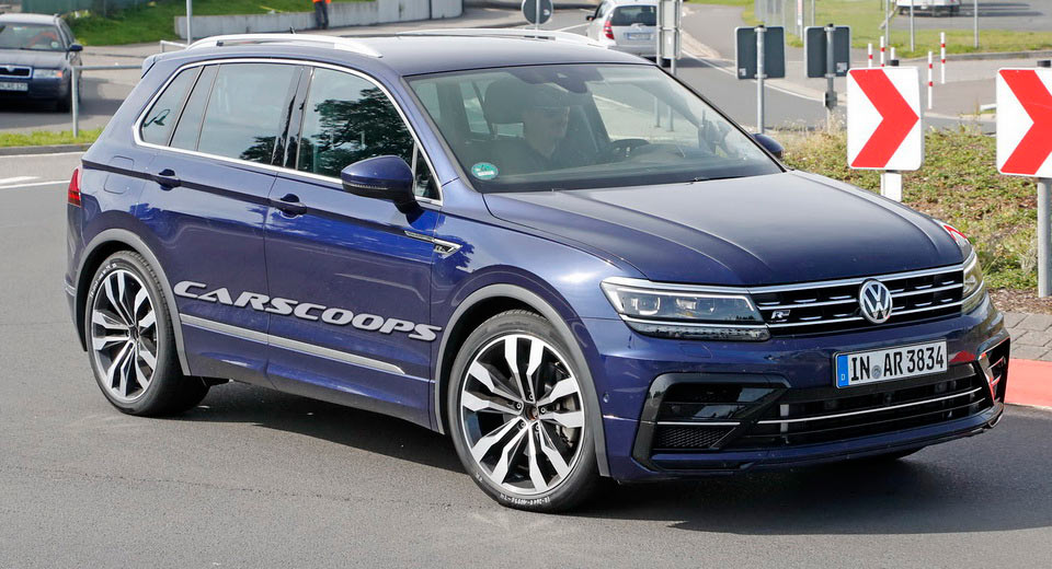 Vw Tiguan R Test Car Spotted Again But It S Not What It Looks Like