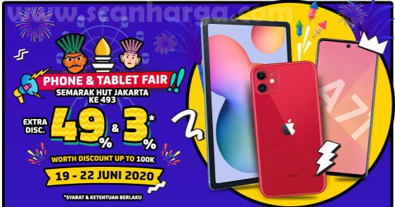 Promo JD.ID Phone & Tablet Fair HUT Jakarta Ke-493! EXTRA DISC 49%