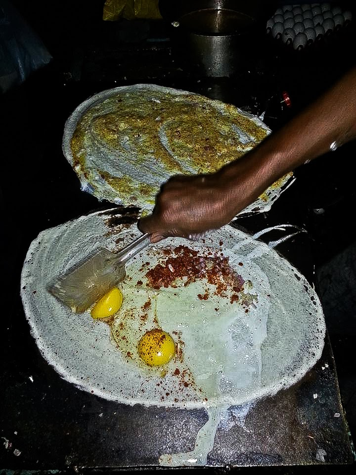 Hyderabad Foodaholix Yousufguda Egg Dosa