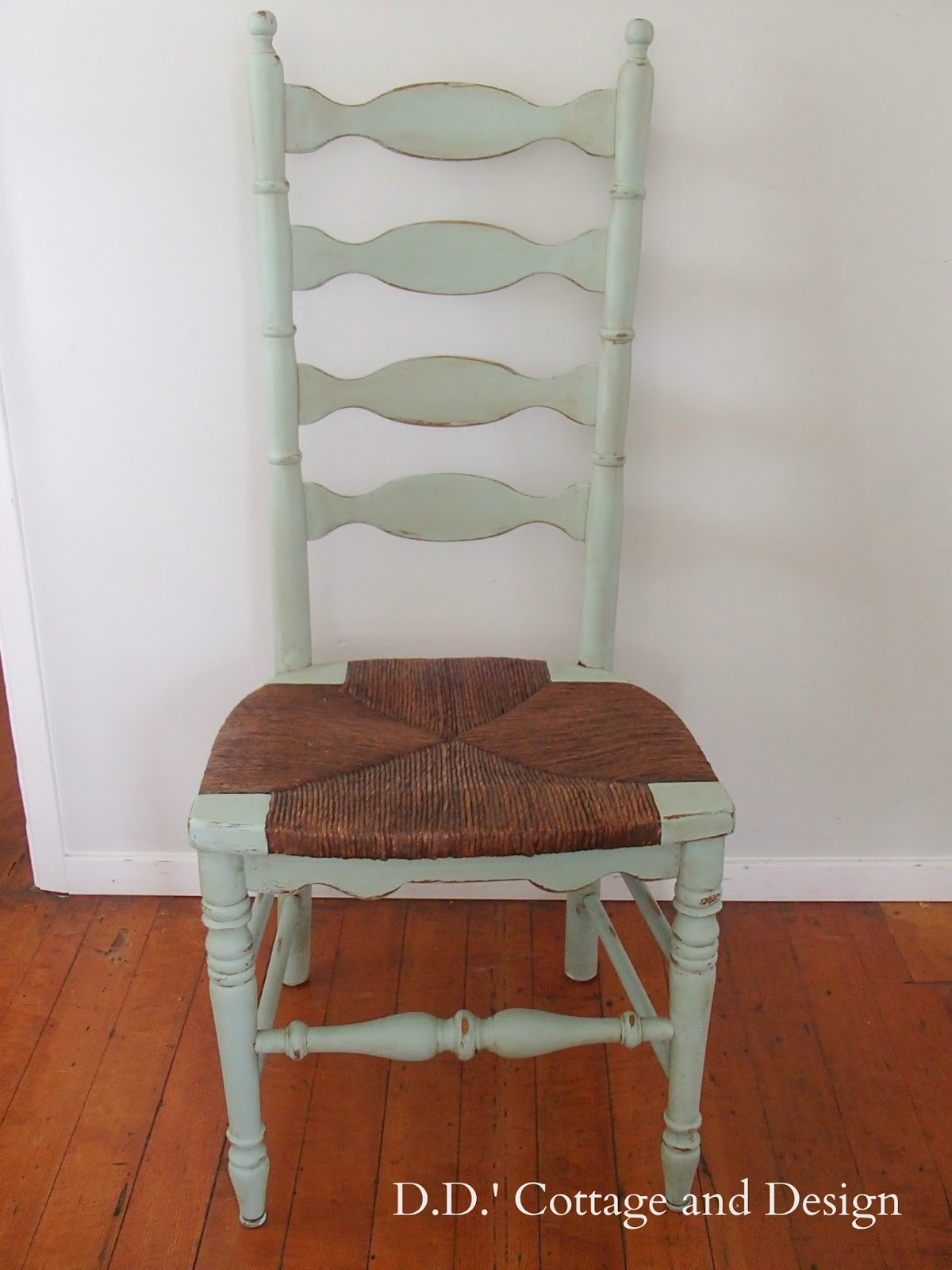 D D S Cottage And Design 4 Ladder Back Chairs With Rush