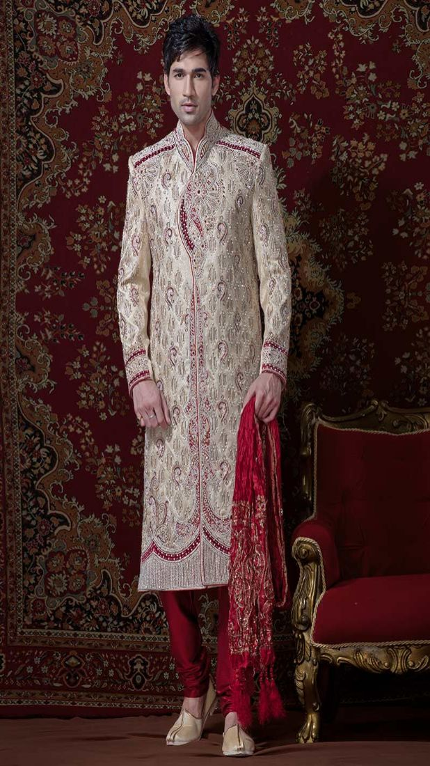 groom's-dress-sherwani