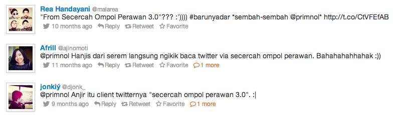 Secercah Ompol Perawan - Twitter Client