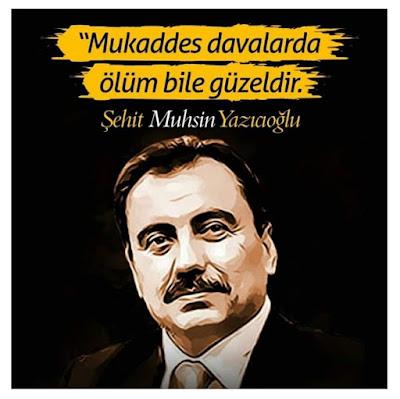 """""""Mukaddes davalarda ölüm bile güzeldir."""" (Muhsin Yazıcıoğlu), muhsin başkan, reis, BBP, alperenler, ülkücüler, türk islam ülküsü,"""