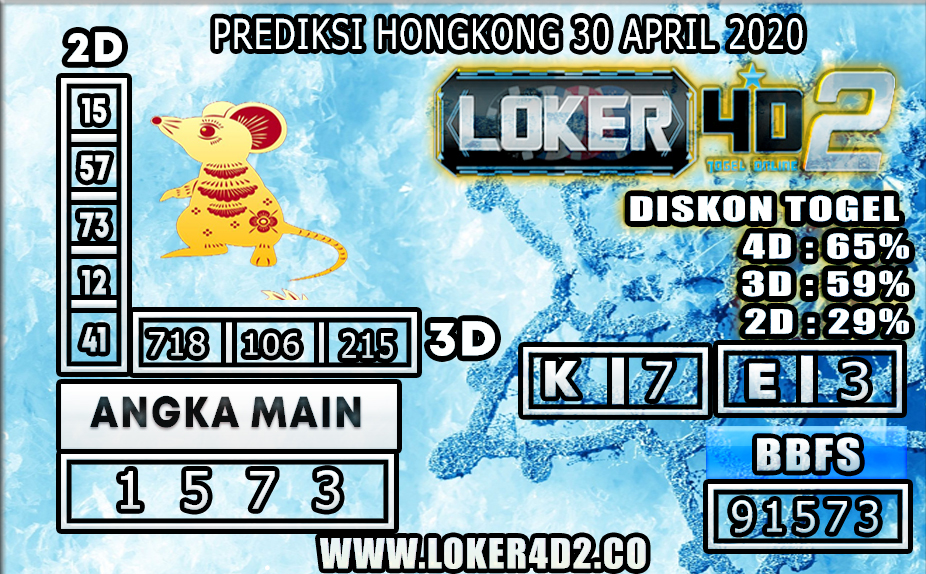 PREDIKSI TOGEL HONGKONG LOKER4D2 30 APRIL 2020