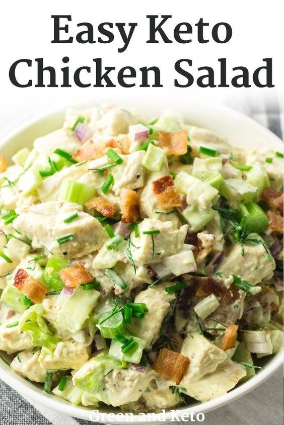 Keto Chicken Salad With Bacon
