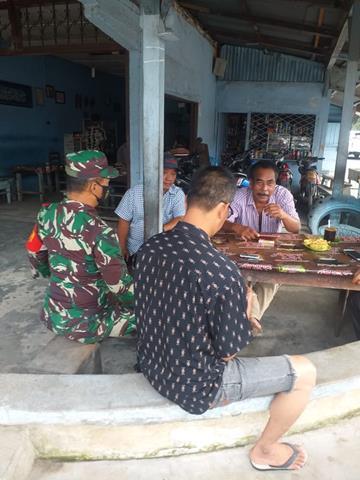 Bersama Dengan Warga Binaan Personel Jajaran Kodim 0207/Simalungun Laksanakan Komsos Diwilayah Binaan