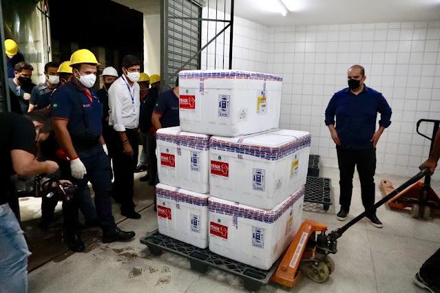 Pernambuco recebeu 84 mil doses da vacina AstraZeneca/Oxford