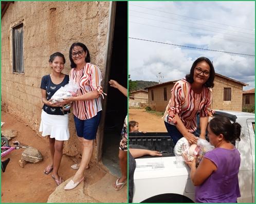 Prefeitura de Japi entregou os alimentos arrecadados em troca de ingressos da festa social do padroeiro