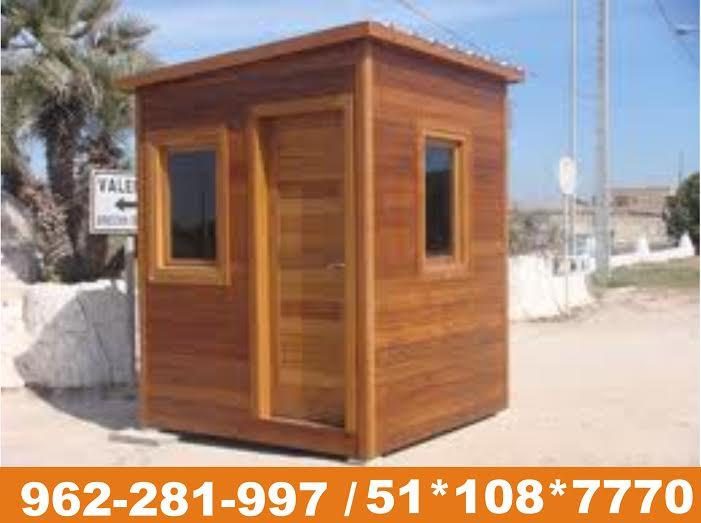 Casetas de seguridad casetas de vigilancia modelos dise os for Casetas madera para jardin baratas