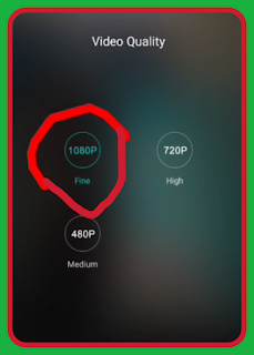 How to video quality settings on camera app