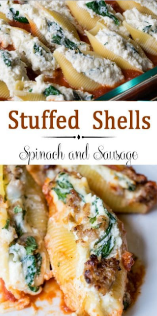 STUFFED SHELLS RECIPE WITH SPINACH