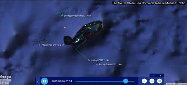 Tàu Khánh Hòa lao tới tiếp viện tàu Trường Sa, rượt đuổi tàu hải cảnh Trung Quốc