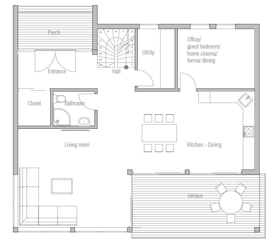 Design Homemodern House Plans: Affordable Home Plans : Economical House Plan CH172