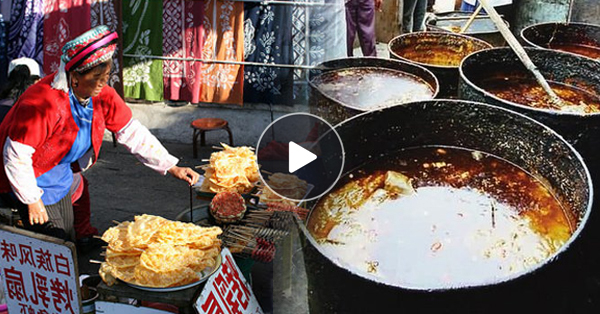Street Food Vendors In China Use Gutter Oil To Fry Food