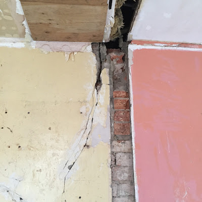 removing walls tied into brickwork