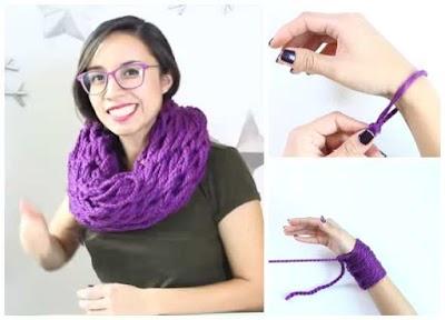 Como hacer una Bufanda con los brazos