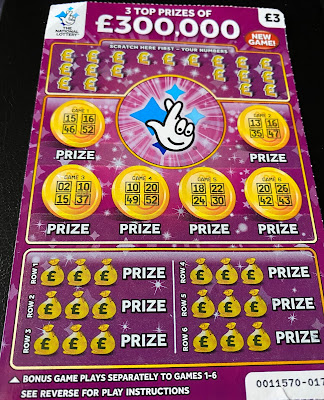 £3 £300,000 Bonus Purple Scratchcard