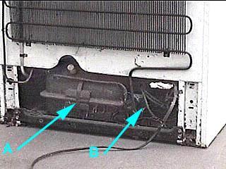 letak kompresor kulkas
