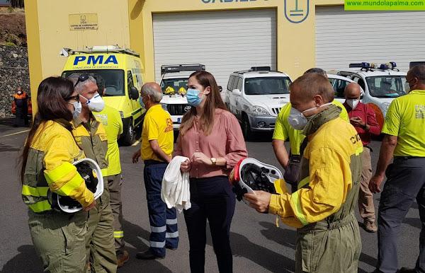 Medio Ambiente confirma que el Gobierno de España actuará de emergencia en la zona afectada por el gran incendio de Garafía