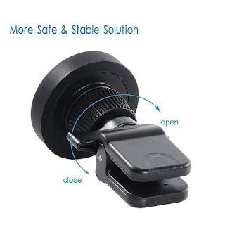supporto cellulare magnetico con pinza