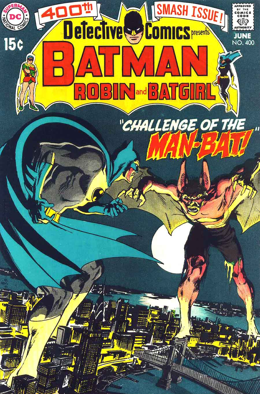 Detective Comics #400 dc 1st Man-Bat comic book cover art by Neal Adams