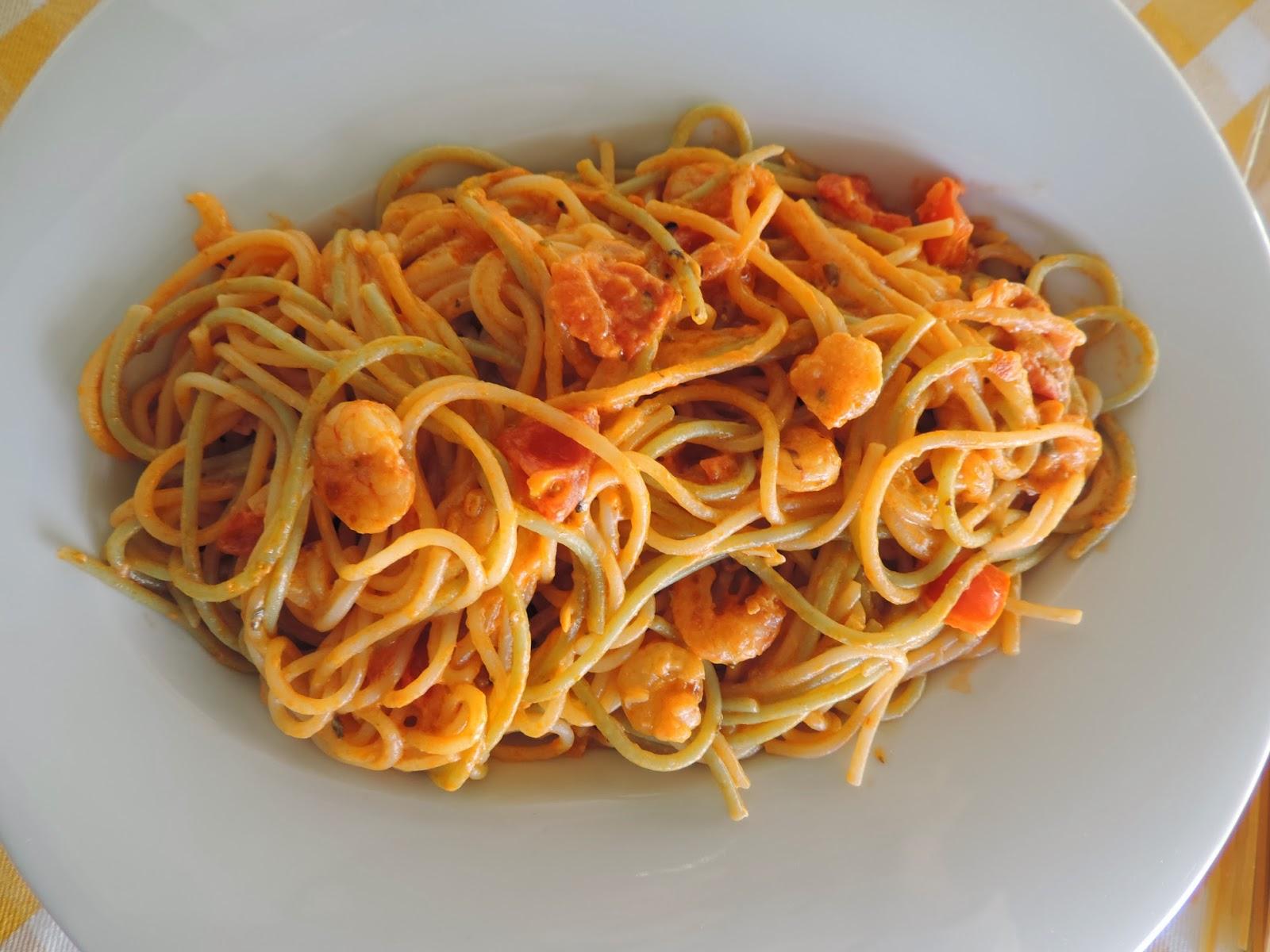 Cocinando con las chachas espaguetis pirata receta for Plato de espaguetis